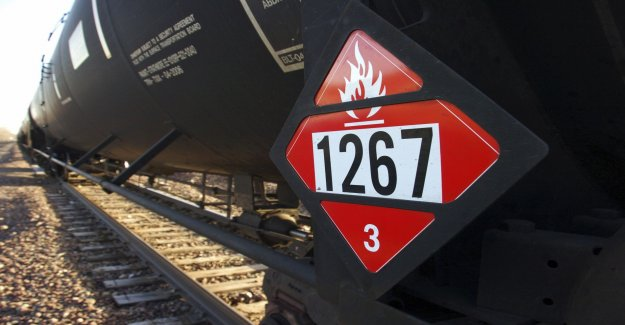 Train loaded with oil derailed