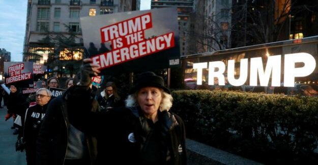 USA : Great resistance against Trumps a state of emergency Declaration
