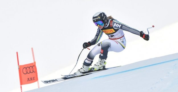 Vonn was standing across the training – including the swedes show the form