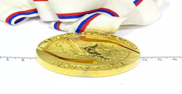 Who trade in the ice hockey world championships medal? Lion of the gold a starting price of 3,500 euros: a Ribbon and a medal in celebration of prints