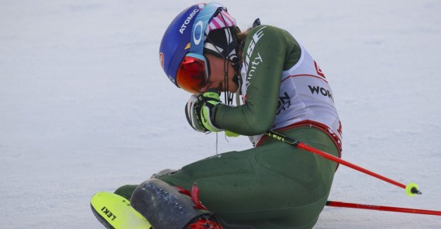 Worn Shiffrin fell in the target area: - For a unique!