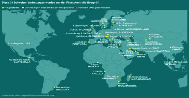 31 Swiss embassies are in front of the