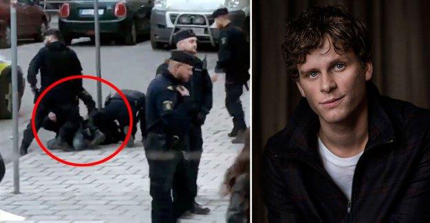 Adam Pålsson wrestled down by police of old were mistaken for vapenman