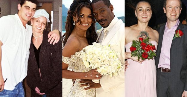 After 6 hours of already separated: these are the shortest marriages of celebrities ever