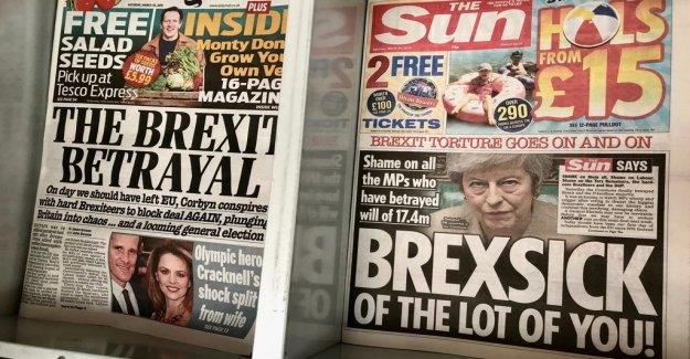 Brexitförräderiet – strong reactions in the british press