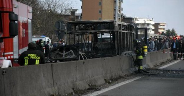 Burnt-out school bus: accused driver was previously convicted