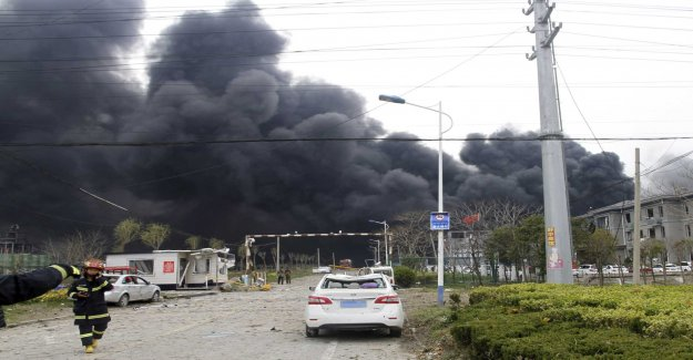 Close to 50 dead after fabriksexplosion in China