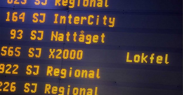 Delays in rail service after nedriven wire
