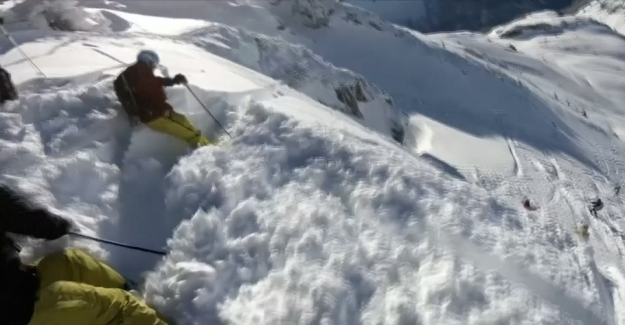 Drama in the snow: Skiers suddenly swallowed up