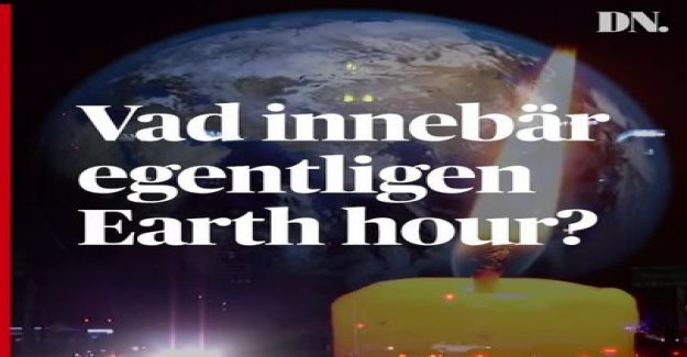 Earth hour 2019: In the evening off the we down