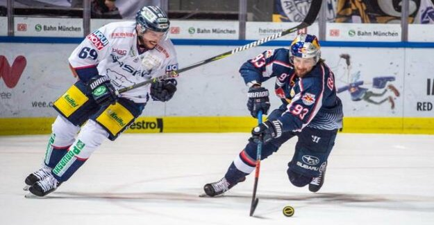 Eisbären Berlin of the football season 2018/19 : 1:0 lead in the third period at RB in Munich