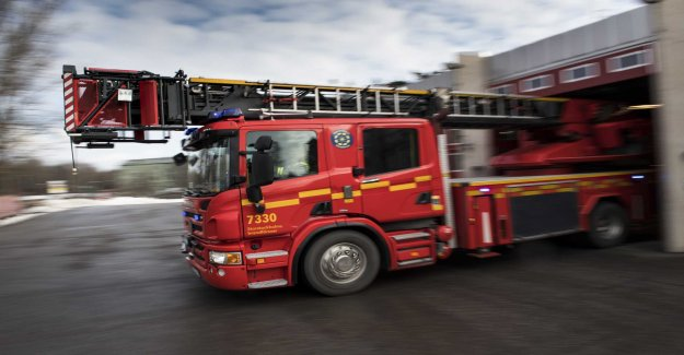Fire in the gravkammarbyggnad in Solna