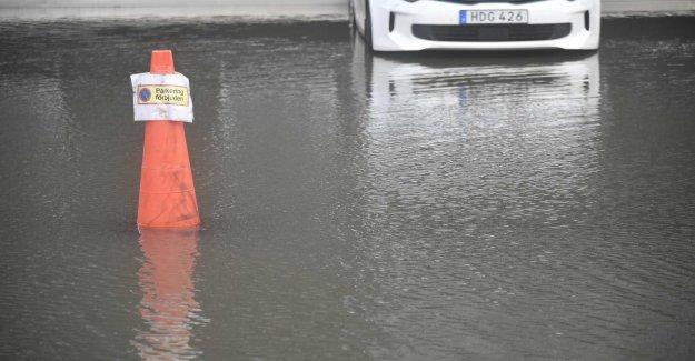 Flood in Eskilstuna, sweden after major leak