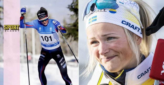 Frida Karlsson was forced to break according to cas