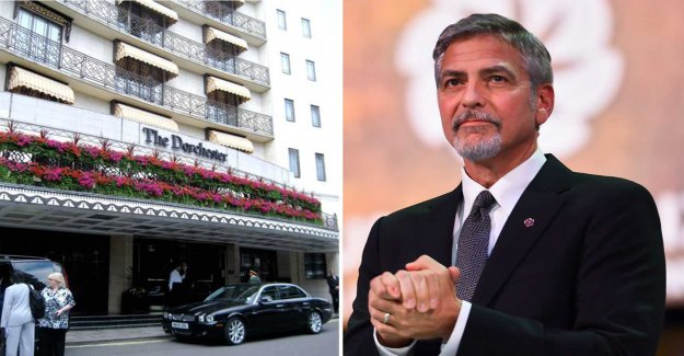 George Clooney calls for a boycott of the nine well-known luxury hotels