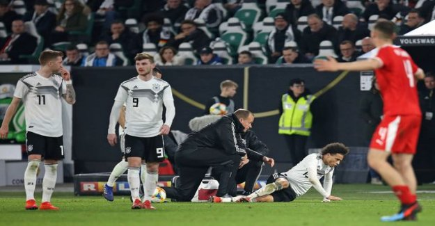 Germany and Serbia the encounter ended in a felony hit - Leroy Sane got the pieces you in the shin
