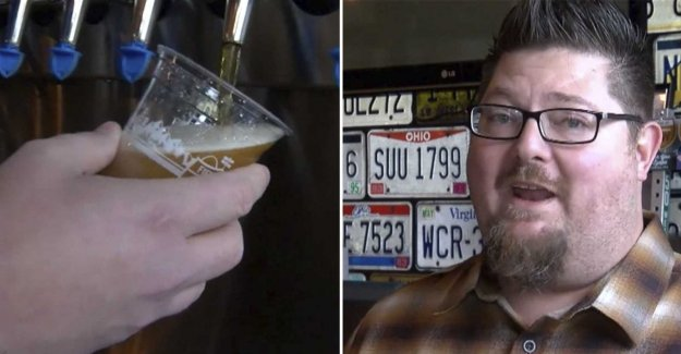 He is living on only beer for 46 days