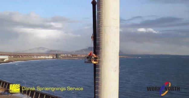 Here burst is 64 meters high chimney