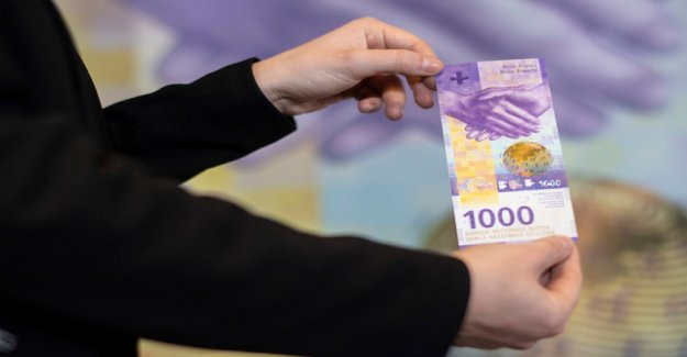 Here is the new 1000-franc notes