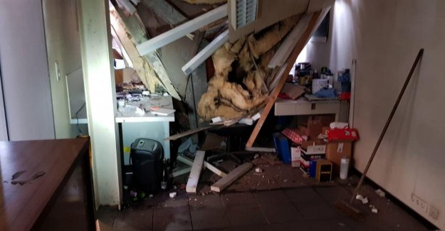 I was just corrected: garage mechanic Steven De Vlieger (42) escaped death after coniferous tree of 25 feet on his desk ends up
