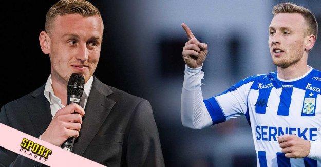 IFK's new captain, if otippade scenbesöket