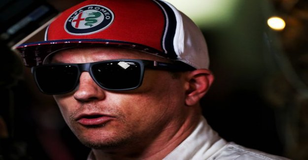 Kimi Raikkonen gestures were incompatible with the handsome time-driving performance with Jyrki lake grove illuminates what race car driver's head: it May be that it is eating
