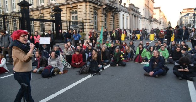Klimaatbeweging busy Rue de la loi and want to have until Tuesday to insist: This is a can't miss moment
