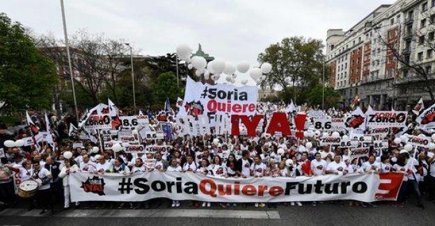 Large demo against the rural Exodus in Spain
