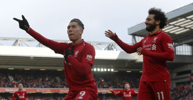 Liverpool remain in the slipstream of Manchester City after hits Mané and Firmino