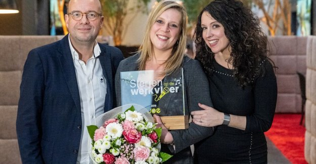 Lynn Van Hoof of the health Care centre Sint-Jozef, from Pelt is the Star in the Workplace with Joe