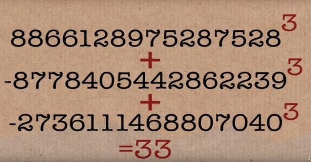 Mathematician cracks mystery of number 33