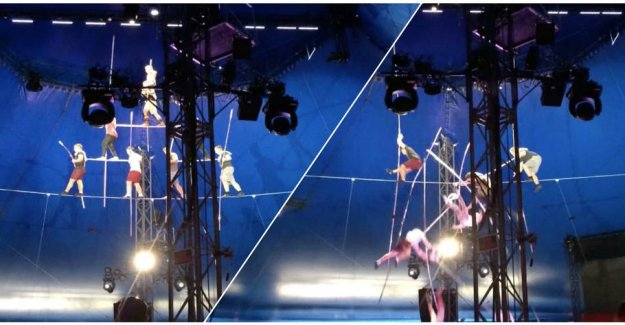 More injuries: the Famous acrobat family line stunt ended up completely wrong