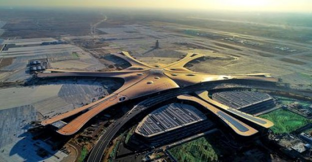 Opening in the fall: Beijing, airport is huge and on schedule