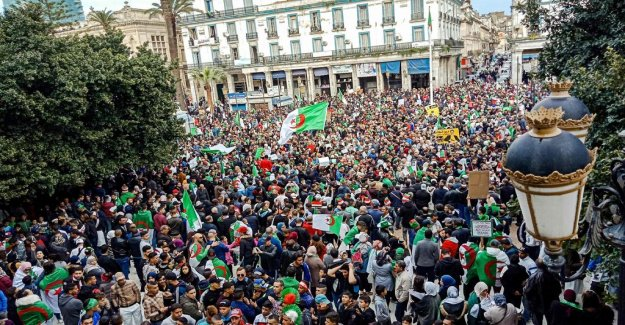 Protests against Bouteflika fotsätter – tens of thousands are demonstrating in Algiers