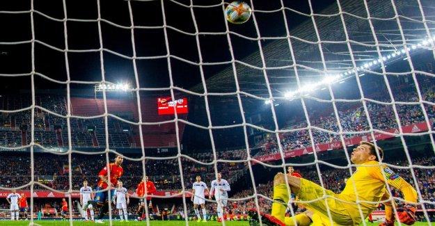 Ramos straffchippade the victory to Spain