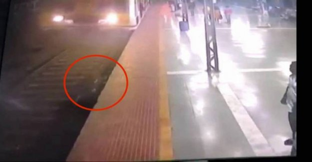 Run over by train: Survives miraculously