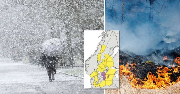 SMHI warns of the profusely snow and grass fires