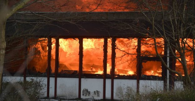 School in flames: More people were detained