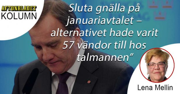 Stop whining on the januariavtalet