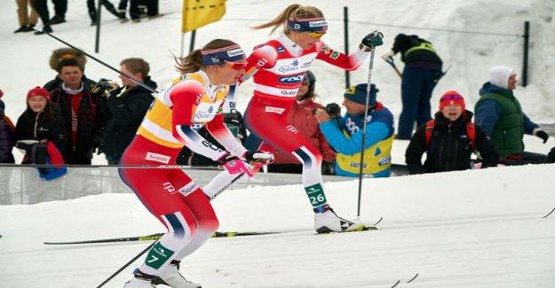 The norwegians dropped Krista Pärmäkosken bluntly third place - Therese Johaug insurance ignorance bright eyes: Ingvild, I did it!