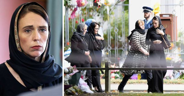 The prime minister Jacinda Ardern hailed after the terrorist attacks