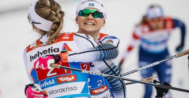 Three last on the podium in längskidsprinten