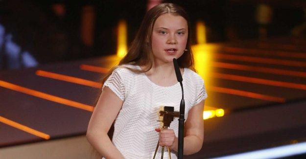 Thunberg praised in the German tv gala