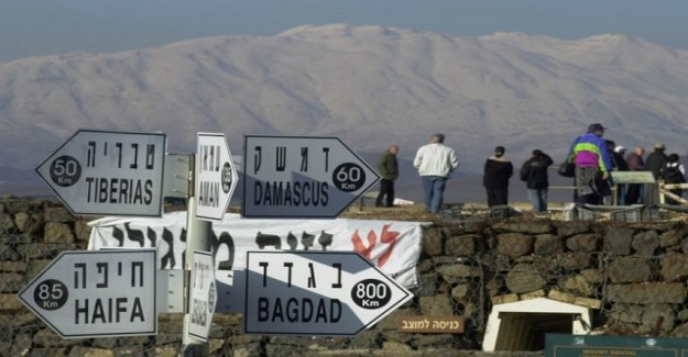 Trump recognizes the Golan heights as part of Israel