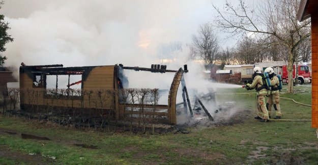 VIDEO. Mother and son come to a fire in a chalet on a campsite in Herentals