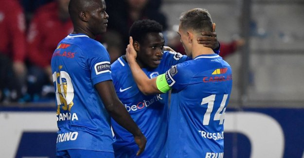 VIDEO. Strong Racing Genk begins to play-off 1 with a bang: the leader sends after impressive first half Anderlecht hiking