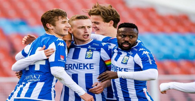 Victory and skadesmällar in IFK Gothenburg's rehearsal