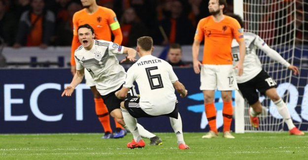 Victory in the European championship qualifying : Nico Schulz, the German Team quite late cheer
