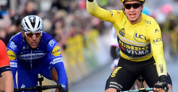Yellow jersey Groenewegen sprint again to flowers after a hectic ride in Paris-Nice, Gilbert third