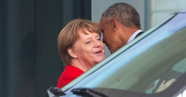 A heart and a soul : Merkel takes for Obama, one and a half hours time